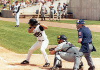 Chuck Lopez batting